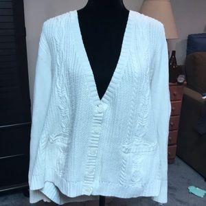 22/24 Lane Bryant cable knit cardigan